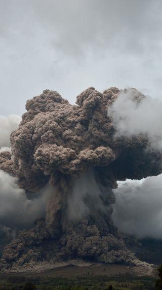 Обои на телефон природа, пейзаж, день, вулкан