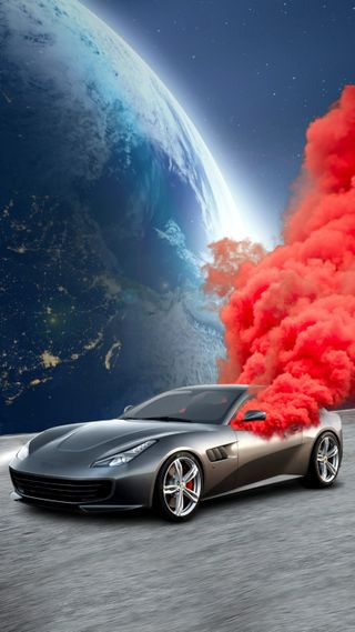 "Обои на телефон фотошоп, путь, машины, космос, звезды, жизнь, дым, smoked car, photoshop"", SMOKED, OzEdits, ""smoke"