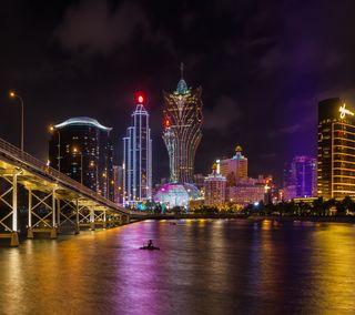 Обои на телефон китай, мост, море, азия, macau, casino