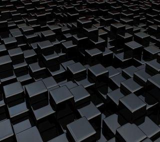 Обои на телефон кубы, черные, абстрактные