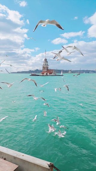Обои на телефон стамбул, море, зима, вода, yachts, aviation