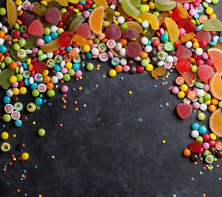 Обои на телефон сладости, сахар, оранжевые, конфеты, желтые, желе