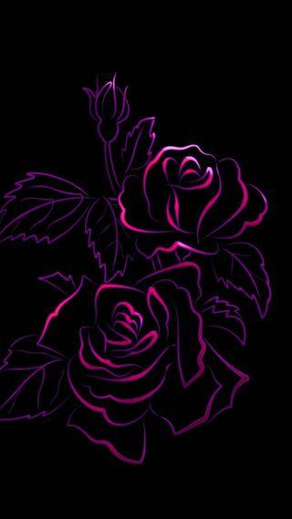 Обои на телефон эмо, черные, темные, розы, розовые, неоновые, красые, готы, velour
