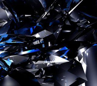 Обои на телефон бриллиант, синие, абстрактные