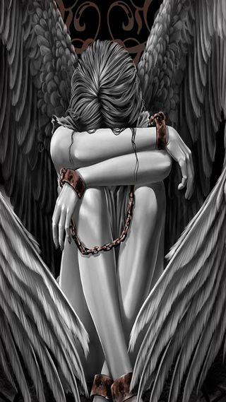 Обои на телефон сломанный, ангел