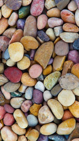 Обои на телефон популярные, коричневые, камни, камешки