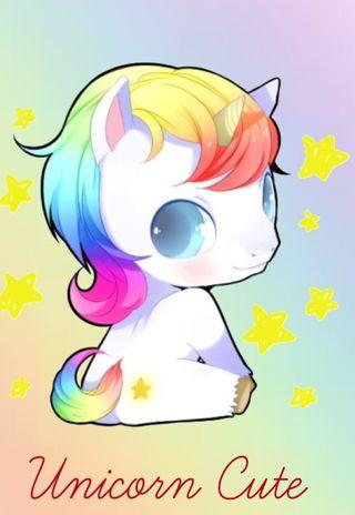 Обои на телефон пастельные, цветные, милые, единорог, unicorn cute