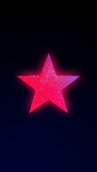 Обои на телефон яркие, черные, символ, светящиеся, розовые, минимализм, красые, звезда, дизайн, горящий, burning star