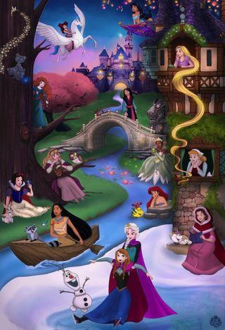 Обои на телефон символы, принцесса, мультфильмы, дисней, princesses, disney
