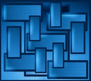 Обои на телефон квадраты, синие, абстрактные, blue squares 2
