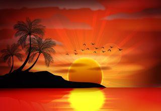 Обои на телефон темы, солнце, пустыня, луна