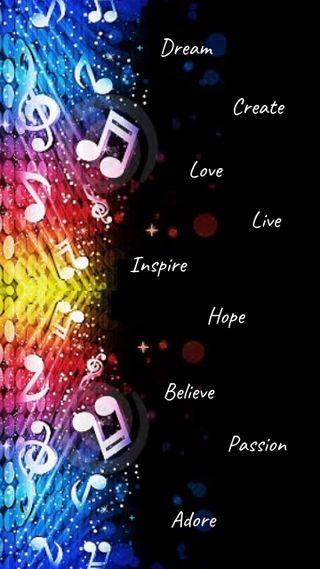 Обои на телефон вдохновение, музыка, красочные, music inspires