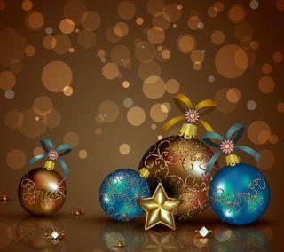 Обои на телефон шары, украшение, счастливое, рождество