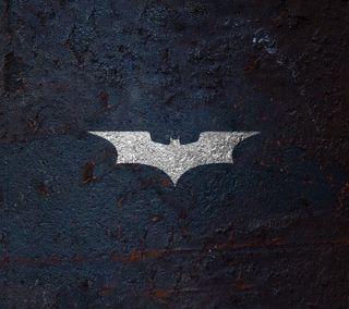 Обои на телефон rises, логотипы, темные, бэтмен, текстуры, рыцарь, бетон