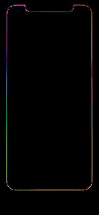 Обои на телефон радуга, черные, градиент, выемка, thex double, double, bezel