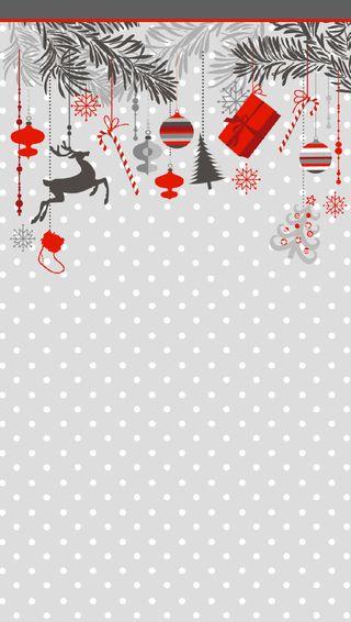 Обои на телефон украшение, рождество