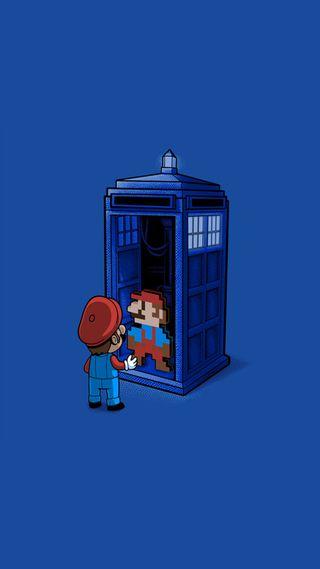 Обои на телефон синие, простые, нинтендо, минимализм, машина, марио, кто, доктор, время, tartus, nintendo, hd, dr, brothers, 929, 8 bit