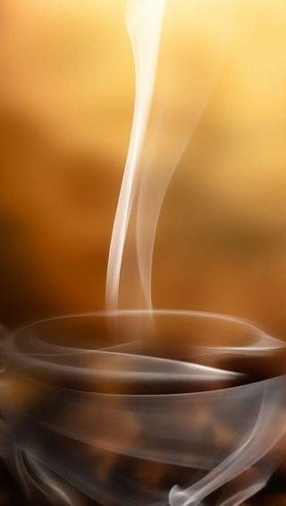 Обои на телефон чашка, кофе, дым, cup