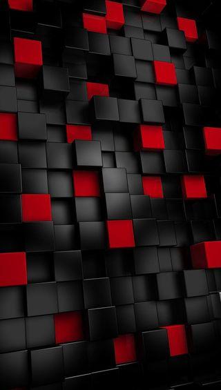 Обои на телефон кубы, черные, красые