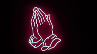 Обои на телефон руки, молитва, доверять, неоновые, любовь, вера, бог, love