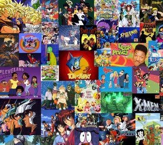 Обои на телефон коллаж, тв, старые, свежие, принц, мяч, мультфильмы, дракон, аниме, shows, old tv shows collage, fresh prince, dragon ball z