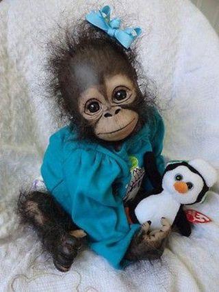 Обои на телефон обезьяны, милые, малыш, baby monkey