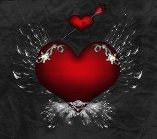 Обои на телефон love, любовь, черные, красые, фон, сердце, стрела