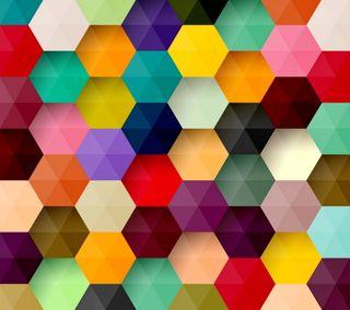 Обои на телефон шестиугольники, геометрия, цветные, фон, colored hexagons