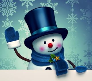 Обои на телефон снеговик, счастливое, рождество, новый, милые