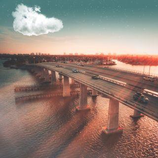 Обои на телефон мост, город, автомобили, puesta, puente, entorno