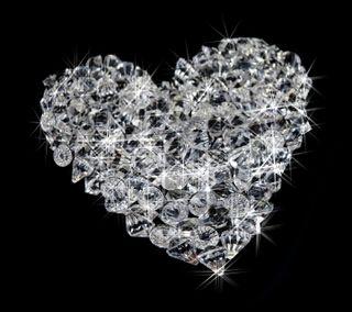 Обои на телефон бриллиант, сердце, бриллианты, jems, diamond heart