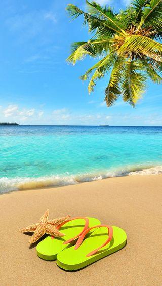 Обои на телефон релакс, фон, праздник, пальмы, лето, hd background