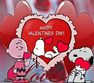 Обои на телефон снупи, счастливые, день, валентинки, snoopys valentines