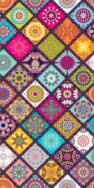 Обои на телефон цветочные, шаблон, текстуры, плитка, красочные