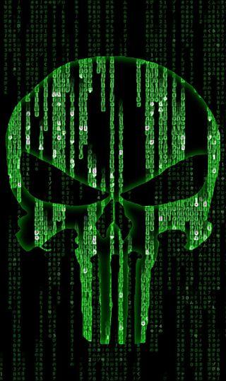 Обои на телефон код, каратель, зеленые, mcode