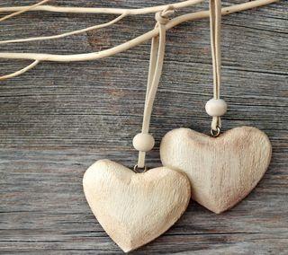 Обои на телефон деревянные, сердце, романтика, любовь, дерево, валентинка, wooden hearts, love