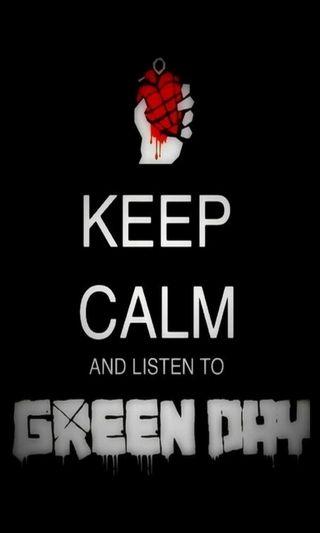 Обои на телефон спокойствие, слушать, зеленые, день, группа, keep calm, green day