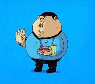 Обои на телефон иллюстрации, звезда, дизайн, spock fat
