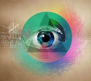 Обои на телефон треугольник, символ, глаза, абстрактные, ocular