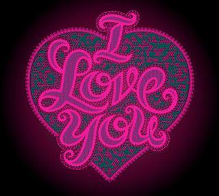 Обои на телефон светящиеся, фиолетовые, ты, сердце, любовь, абстрактные, love