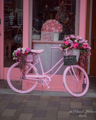 Обои на телефон девчачие, улица, розовые, девушки, велосипед, store