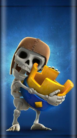 Обои на телефон стена, скелет, карты, игры, бой, wall breaker, supercell, royal, clash, battle card
