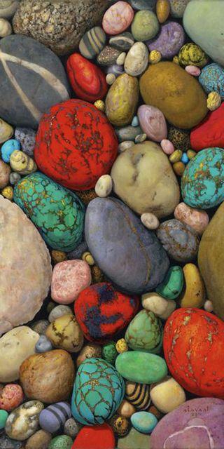 Обои на телефон камни, цветные, красочные, камешки