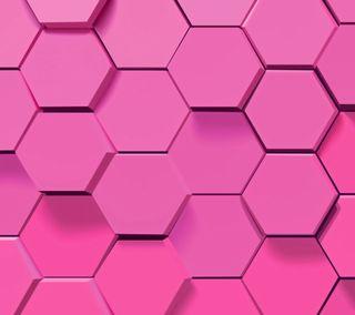 Обои на телефон шестиугольники, соты, геометрия, розовые, абстрактные, pink honeycomb