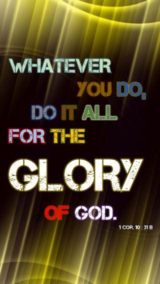 Обои на телефон библия, христианские, 1 corr 10 - 31b