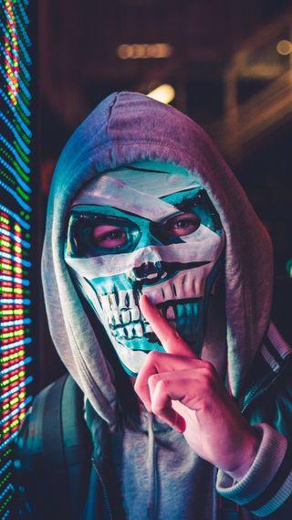 Обои на телефон maske anime, mask man, аниме, маска