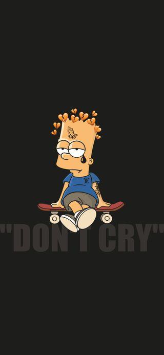 Обои на телефон черные, симпсоны, не, минимализм, любовь, депрессивные, грустные, барт, айфон, love, iphone, dont cry bart, cry