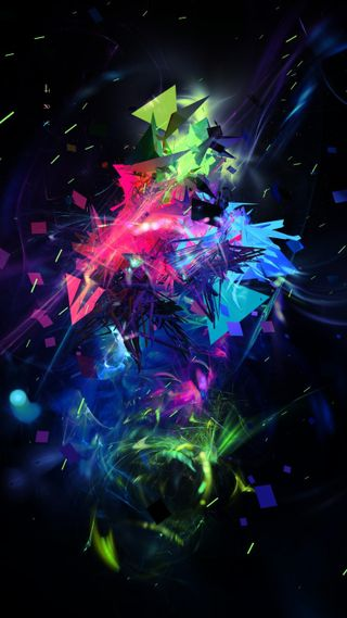 Обои на телефон абстрактные, черные, синие, розовые, зеленые, фиолетовые, цвета