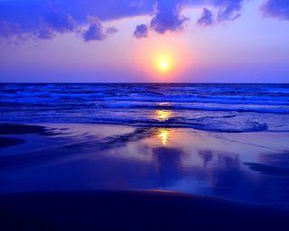 Обои на телефон восход, солнце, синие, природа, прекрасные, пляж, небо, море, закат, sunrise hd