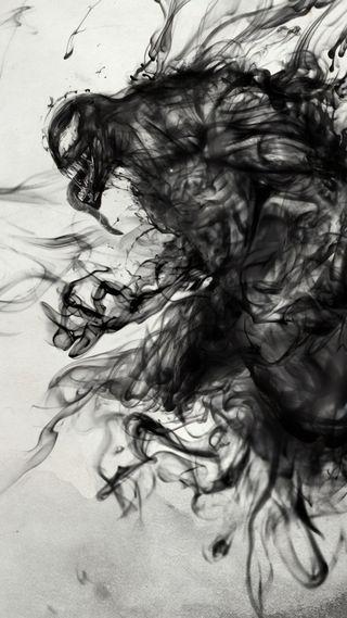 Обои на телефон чернила, веном, арт, venom ink, art